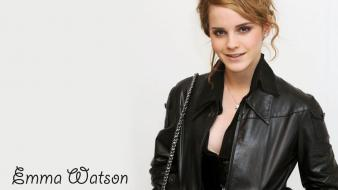 Emma Watson In Black Coat Hd wallpaper