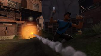 Explosions team fortress 2 scout Wallpaper