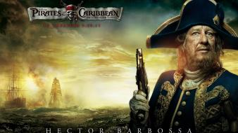 Geoffrey Rush In Pirates Of The Caribbean 4 wallpaper
