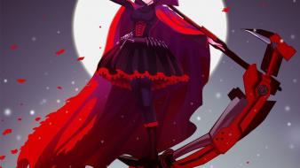 Girls bangs black skies rwby ruby (rwby) wallpaper