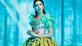 Lily Collins As Snow White wallpaper