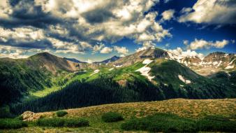 Mountains landscapes nature trees country Wallpaper