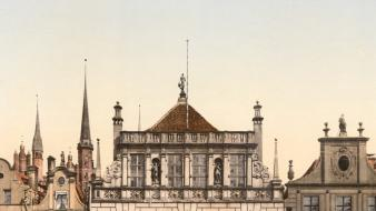 Poland danzig palace gdansk old photo photography wallpaper