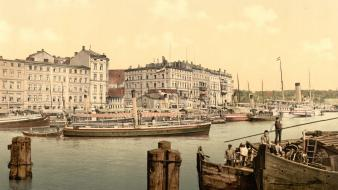 Poland palace cities szczecin old photo photography wallpaper