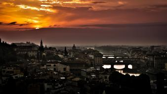 Sunset clouds cityscapes architecture italy florence skyscapes wallpaper