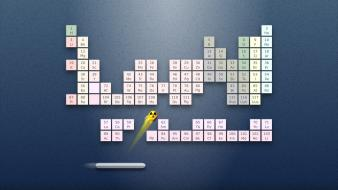 Ubuntu periodic table chemistry ping pong game Wallpaper