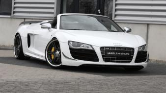 White cars audi r8 gt spyder wallpaper