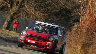 Wrc races mini countryman john cooper motorsport wallpaper