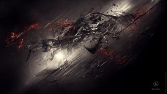 Abstract dark berserk digital art Wallpaper