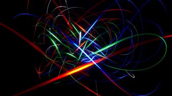 Abstract light trails wallpaper