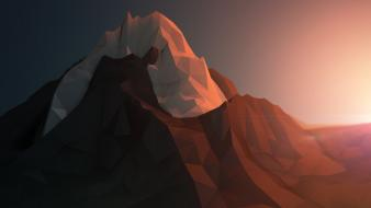 Abstract mountains artwork 3d lighting wallpaper
