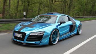 Audi r8 auto blue cars wallpaper