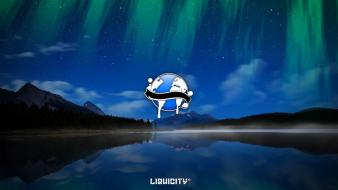 Aurora borealis drum and bass liquicity Wallpaper