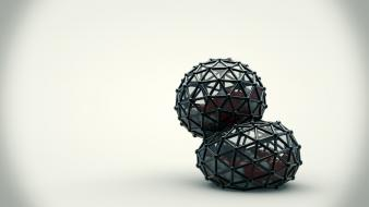 Balls mesh spheres 3d render edited squash wallpaper