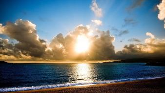 Beach sunshine Wallpaper