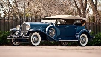 Blue convertible duesenberg wallpaper