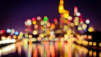 Bokeh cities Wallpaper