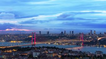Bosphorus bridge istanbul turkey cities wallpaper