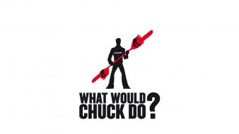 Chuck greene dead rising chainsaw silhouettes simple wallpaper