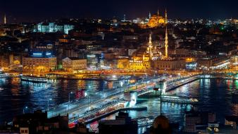 Cityscapes bridges turkey istanbul mosques wallpaper