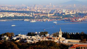 Cityscapes turkey istanbul bosphorus mosque cities Wallpaper