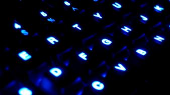 Close-up blue dark keyboards wallpaper
