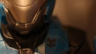 Close-up plastic halo reach statues macro unsc Wallpaper