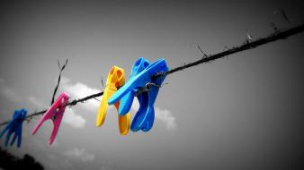 Clothespin selective coloring colors wallpaper