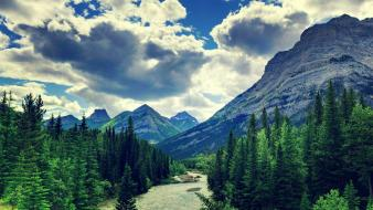 Clouds landscapes mountains mountainscapes nature wallpaper