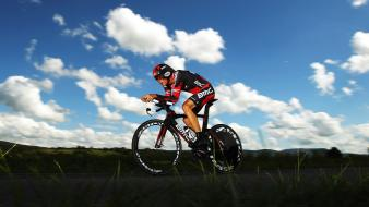 Clouds sports skyscapes cycling races cycles wallpaper