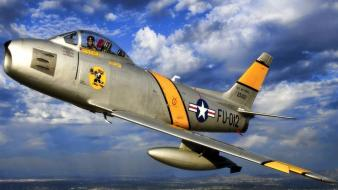 F-86 sabre scott skies Wallpaper