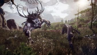 Fiend the witcher 3: wild hunt fighting wallpaper