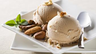 Food ice cream nuts wallpaper