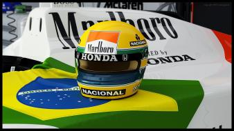 Formula one havoc ayrton senna helmets tribute wallpaper