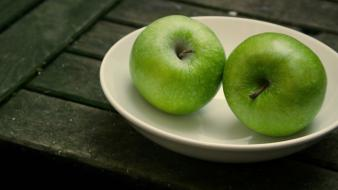 Fruits green apples wallpaper