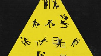 Funny cheating yellow sign wallpaper