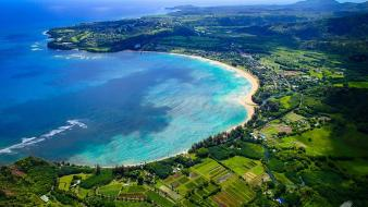 Hawaii kauai island bay beaches coast wallpaper