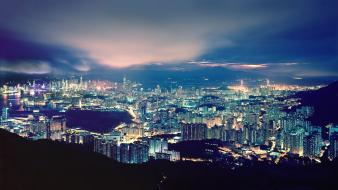 Hong kong city skyline cities bay thomas birke Wallpaper