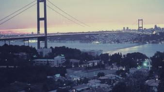 Istanbul turkey bridges cities cityscapes wallpaper