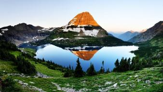 Lakes mountains nature Wallpaper