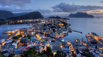 Landscapes cityscapes norway ålesund wallpaper