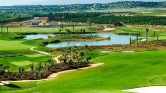 Landscapes nature golf course Wallpaper