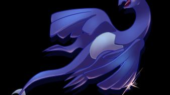 Lugia pokemon shadow black background Wallpaper