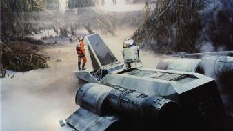 Luke skywalker on set r2d2 star wars x-wing wallpaper