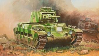 Military tanks artwork british wallpaper