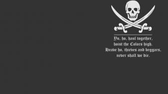 Minimalistic dark quotes pirates simple wallpaper