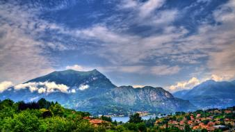 Mountains clouds landscapes nature italy skyscapes wallpaper