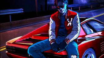 Music drive electro artwork french kavinsky wallpaper