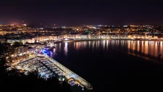 Night san sebastian cities Wallpaper