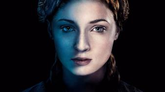Sansa stark faces sophie turner (actress) hbo wallpaper